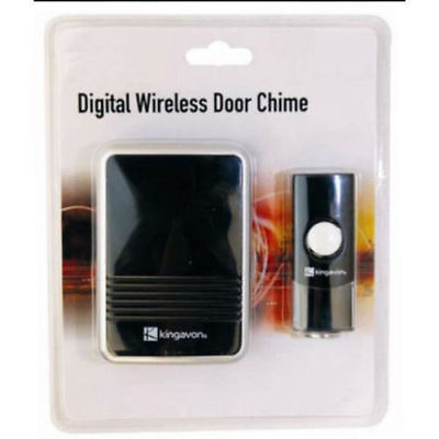 36 MELODY BLACK DIGITAL WIRELESS DOOR BELL CHIME 80M FRONT BACK DOOR HOUSE