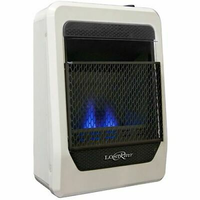Blue Flame Natural Gas Heater - Lost River Natural Gas Ventless Blue Flame Gas Space Heater - 10,000 BTU