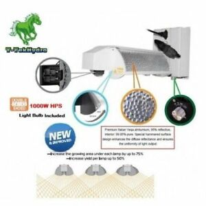 T-TekHydro INNOVATIVE DE 1000W HPS 3-MODE ADJUSTABLE REFLECTOR