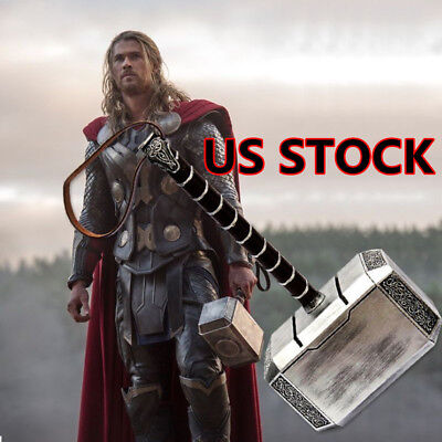 1:1 Avengers Thor Hammer Resin Full Size Mjolnir Replica Cosplay Props US STOCK