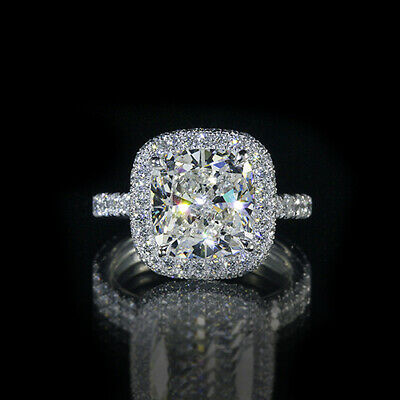 2.8ct GIA 18K White Gold Cushion Diamond Engagement Ring G/SI2 (7153209175)