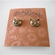 Lucky Brand Owl Earrings