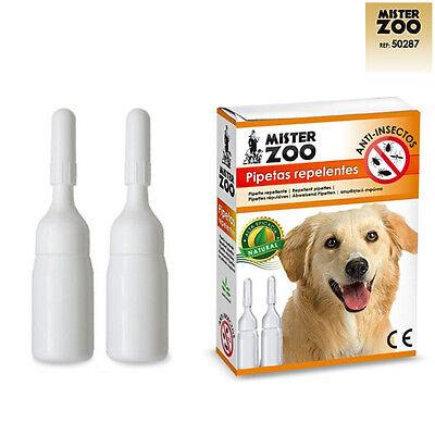 Confezione 2 x 2,8 ml Fialette Repellenti Anti Insetti per Cani Pulizia Cane