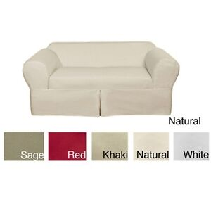 Classic Two Piece Twill Loveseat Slipcover