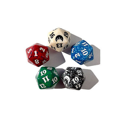 MTG 1 x D20 Spin Down Dice Magic: the Gathering Life Counter (Assorted Spindown)