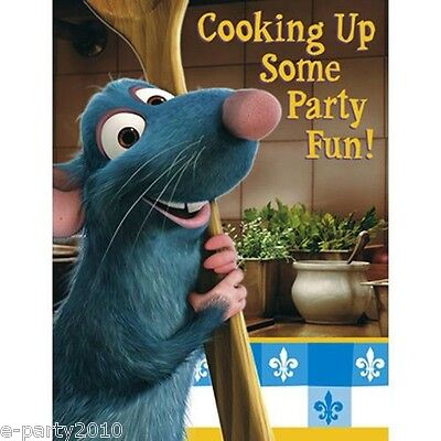 Ratatouille Birthday Party - RATATOUILLE INVITATIONS (8) ~ Birthday Party Supplies Stationery Invites Notes