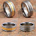 Tungsten Silver 10 Ring Rings for Men