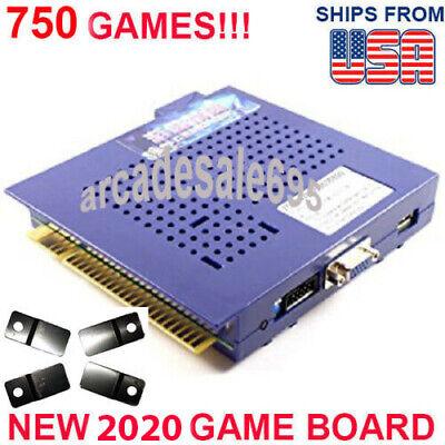 NEW 750 in 1 Game Elf JAMMA Arcade Board VGA Horizontal w BRACKETS US SELLER