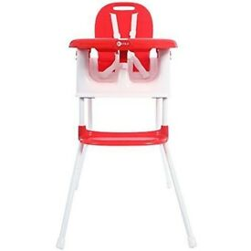 MYCHILD 3 in 1 HIGH CHAIR - EASILY CONVERTS TO STOOL OR BOOSTER SEAT