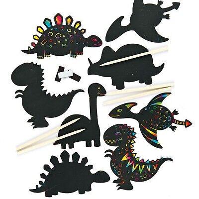 5 'POORLY' IMPERFECT RANDOM DESIGNS Scratch Art Fridge Magnets Kids Craft  (Scratch Art Designs)
