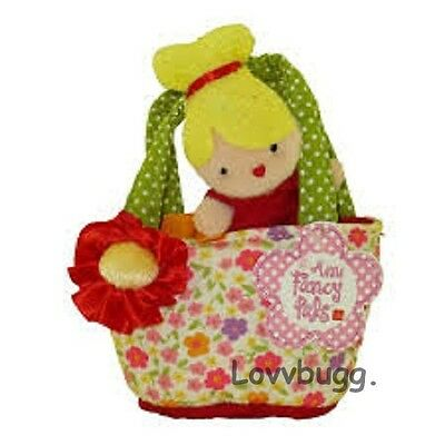 "Lovvbugg Blonde Doll in Calico Carrier Bag for 18"" American Girl Doll Accessory"