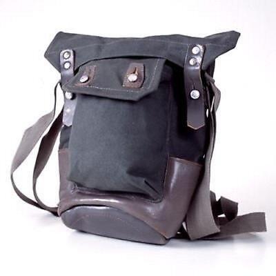 1950s Handbags, Purses, and Evening Bag Styles Vintage Scandinavian Retro WWII Era Shoulder Bag Canvas Leather Base 40s50s RARE $43.84 AT vintagedancer.com