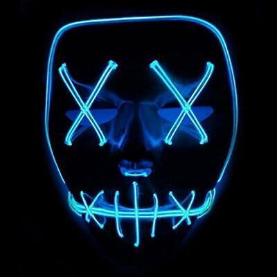 Purge Maske LED Rot | Halloween Masken Festival Party Leuchtende Mask Karneval K