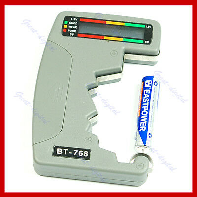 Digital Battery Tester Checker LED Monitor C D 1.5V 9V