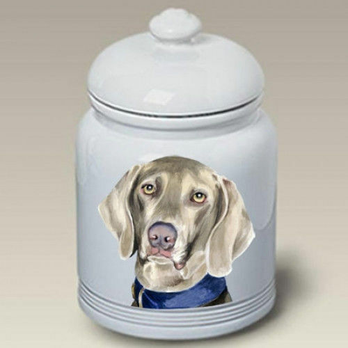 Weimaraner Ceramic Treat Jar BVV 23057