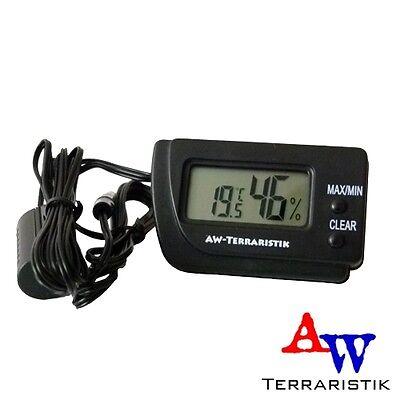 AW-Terraristik - Digitales Thermometer u. Hygrometer mit 2 Fühler