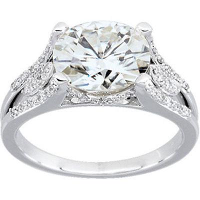2 carat Oval Shape Diamond Wedding Solitaire Ring 14k White Gold GIA cert H VS2