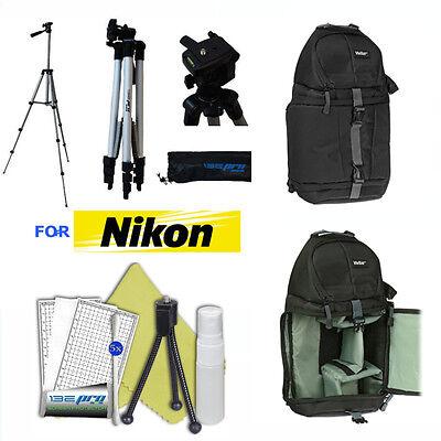 "50"" PRO TRIPOD + BACKPACK CARRYING BAG FOR NIKON D5600 D3400"