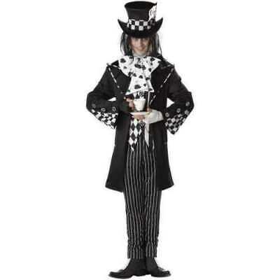 California Costumes Platinum Collection DARK MAD HATTER Adult Costume Med - Dark Mad Hatter