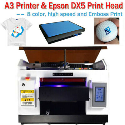 Achi Dx5 Uv Printer 8 Color Rotary Holder Flat Cylindrical Printed 3d Embossed
