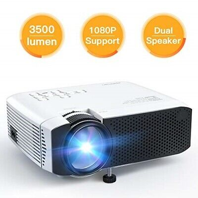 Projector APEMAN Video Mini Portable Projector 3500 Lumen with Dual Built-in Spe