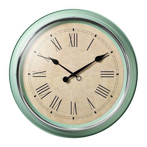Green/teal wall clock
