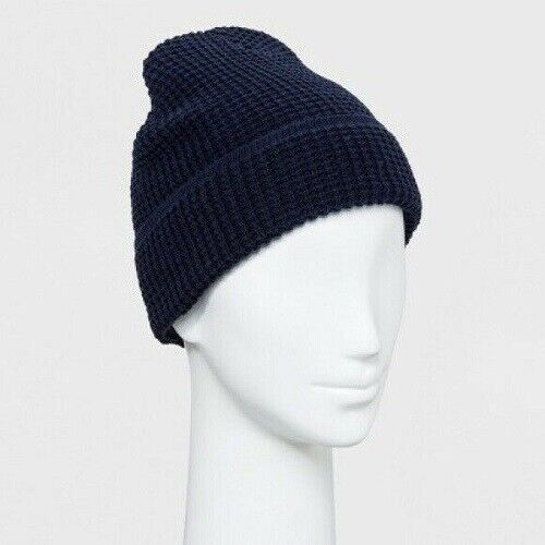 Goodfellow & Co Waffle Knit Cuff Beanie, Navy, One Size Clothing, Shoes & Accessories