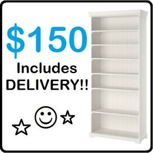 IKEA LIATORP Bookcase (White) --- $150 ONLY !!