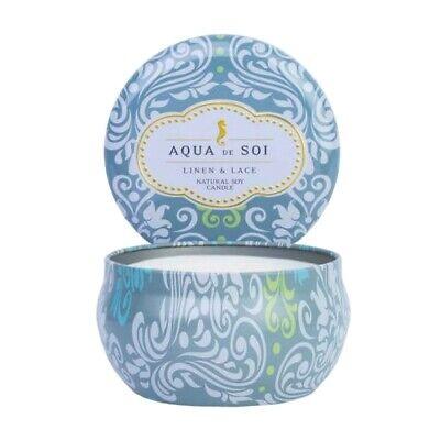 Soi Candles Aqua de Soi Linen & Lace Decorative Tin 9oz