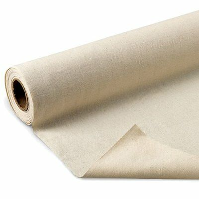 "Fine Arts Unprimed Cotton Canvas Roll, 6 yds x 62"" , New, Free Shipping"