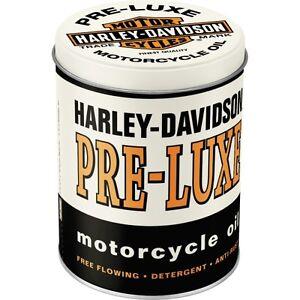 Barattolo-in-Latta-Harley-Davidson-PRE-LUXE-contenitore-Vintage-10-X-H-13