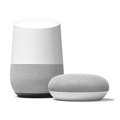 Google Home + Home-Mini (Chalk)