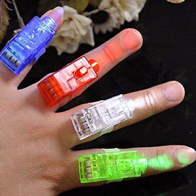 10x LED Fingerlampe Mitbringsel Fingerring Leuchtringe Fingerlichter Mitgebsel  ()