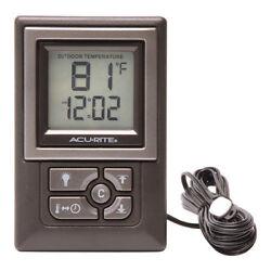 AcuRite 00891w Indoor/Outdoor Digital Thermometer With Humidity Gauge & Clock