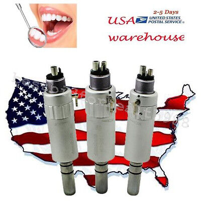 3x Classic Dental Air Motor E-type 4 Hole Low Speed Handpiece Fit Nsk Kavo Usa