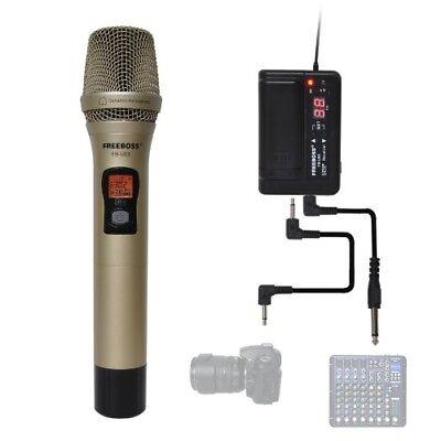 FB-U03 1 Way 100 channel Metal Handheld Transmitter Wireless Microphone Camera (1 Channel Handheld Transmitter)