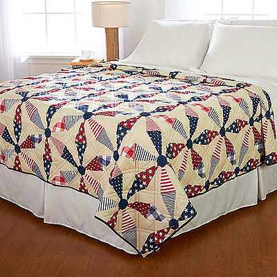 Ashley Cooper American Pinwheel Quilt in Twin, Queen or King Size ()