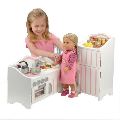 18 doll kitchen ebay. Black Bedroom Furniture Sets. Home Design Ideas