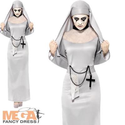Gothic Undead Nun Ladies Fancy Dress Halloween Saints Sinner Women Adult (Saints Halloween Kostüme)
