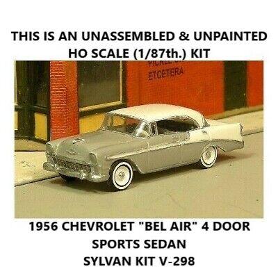 - HO SCALE: 1956 CHEVROLET BEL AIR SPORT SEDAN - SYLVAN KIT V-298