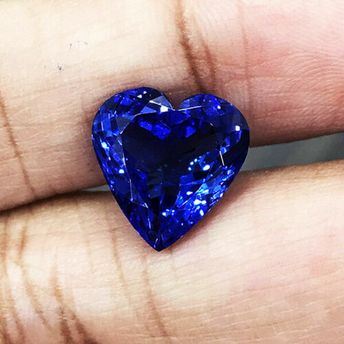 6.61cts AAA+++ Color Natural Purple Blue Tanzanite Heart Shape Loose Gemstone