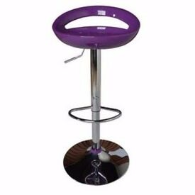 Bar stool Purple and white Bargain