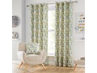 Dunelm eyelet curtains 90 x 90 plus 4 matching cushion covers