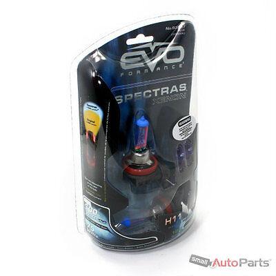 2) Xenon Blue H11 Car-Truck Headlight Bulbs 8000K +2 Free Ultra-White T10 Bulbs