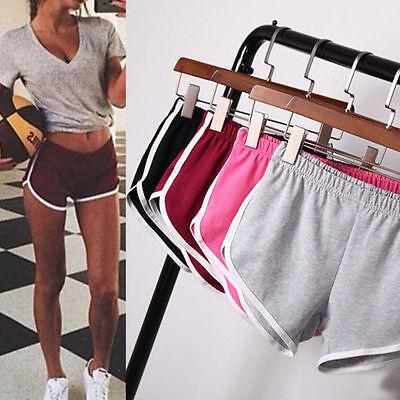 Women Girl Sports Shorts Running Gym Fitness Short Pants Workout Beach Casual @