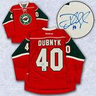 Minnesota Wild Hockey NHL Original Autographed Jerseys