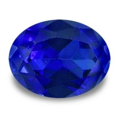 6.5 cts  12x10 mm Oval Cut  Blue Created  Sapphire