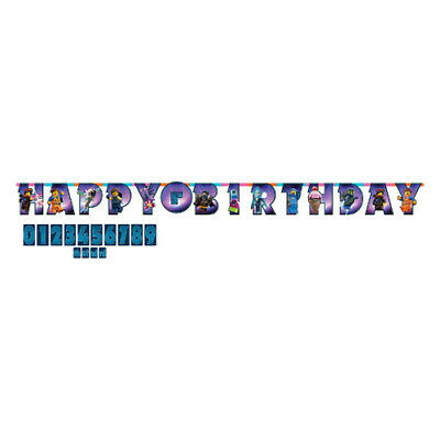 LEGO MOVIE 2 JUMBO LETTER BANNER KIT ~ Birthday Party Supplies Decorations - Lego Birthday Banner