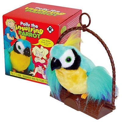 Polly The Insulting Parrot Bird  - Motion Activated Offensive Adult Talking Bird