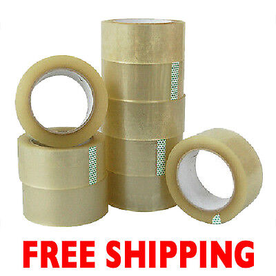 12 Rls Clear 2 X 330 Carton Sealing Packing Shipping Tape Free Shipping
